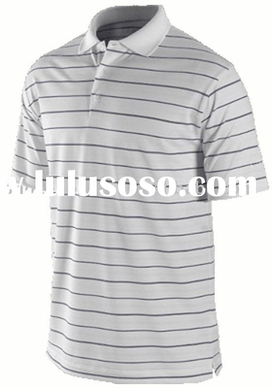 2012 men's short sleeve striped polo shirts