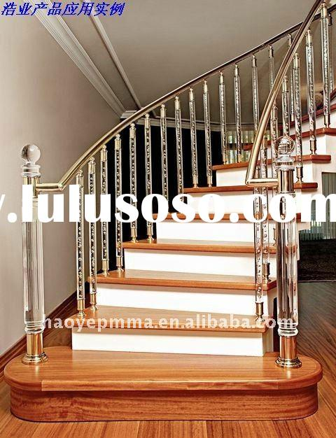 2012 new-acrylic stair railing with LED light