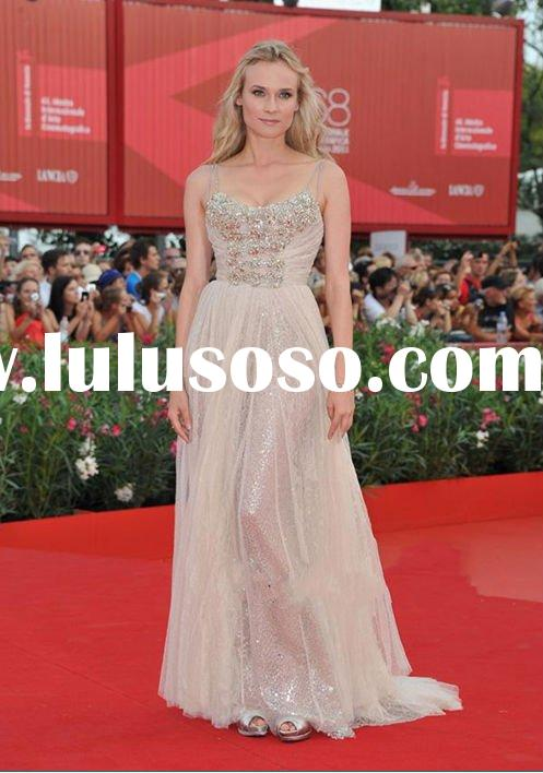 2012 new arrival spring elie saab style one shoulder lace and chiffon evening dress