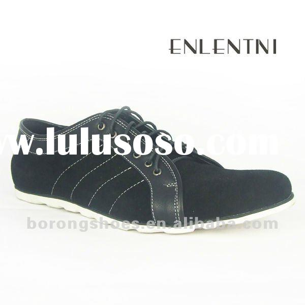 2012 new design fashion leather casual shoes for men