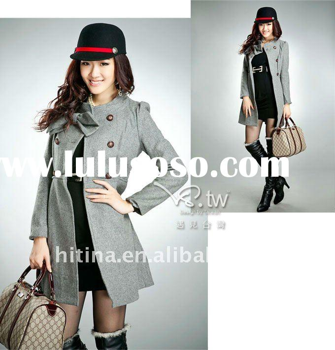 2012 new designer women long coats for winter