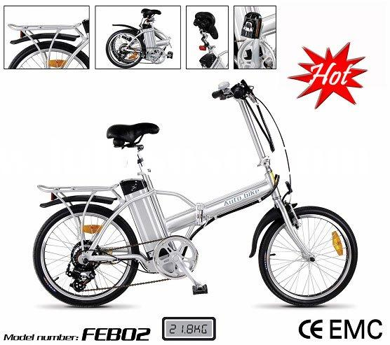 20 inch wheel foldable electric bike power by LiFePo4 battery.