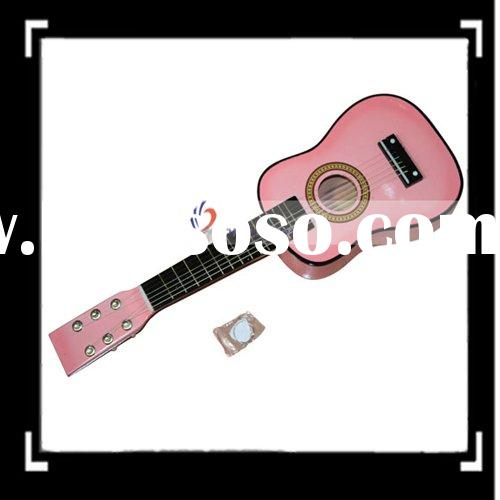 "23"" Childrens Pink Acoustic Guitar + Pick + Strings"