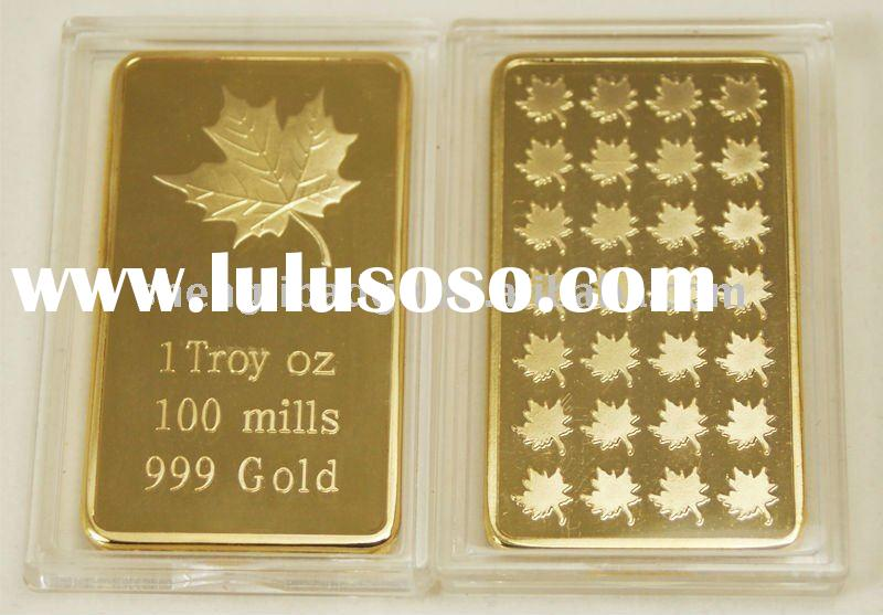 24k gold plated bars, 1 grain 5 grains solid bars