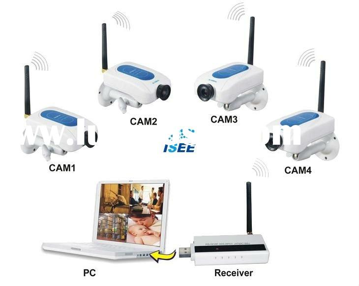 2.4GHz Digital Signal Wireless Camera Kit Home Security System