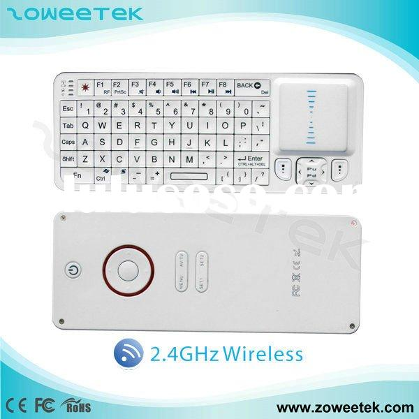 2.4GHz Mini Rii Wireless Keyboard with Mouse, IR Remote Control (3 in 1 )for TV, iPhone, iPad, PS3,