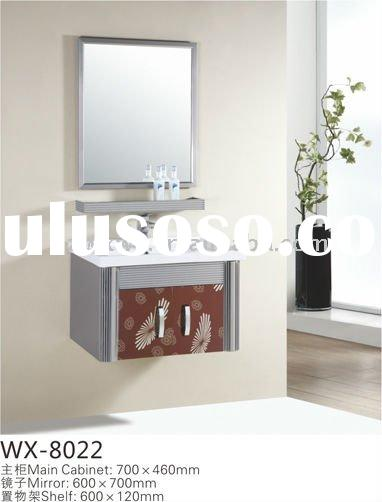 304 stainless steel small wall hung bathroom vanity