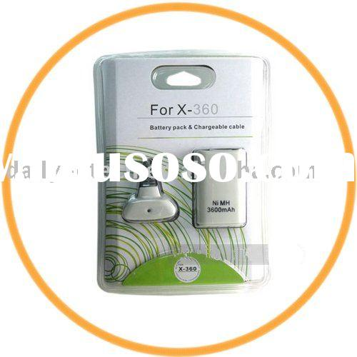 3600mAh Battery Pack Controller Charger Kit For XBOX 360
