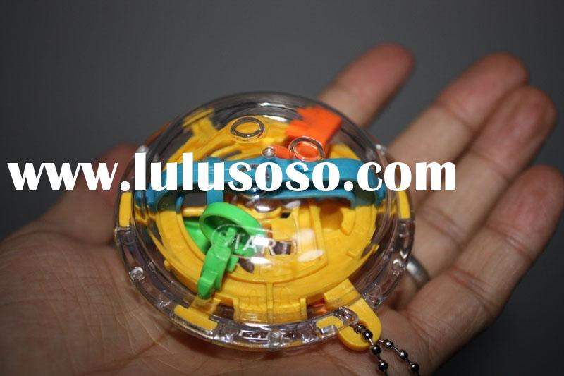3D Puzzle Ball Maze Game Toy Mini Magical Intellect Labyrinth Ball With Keychain