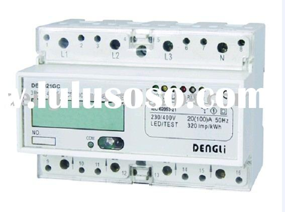 3 PHASE 4 WIRE ELECTRONIC DIN RAIL ENERGY METER ( KWH METER,KILOWATT HOUR METER,ELECTIC METER,WATT H