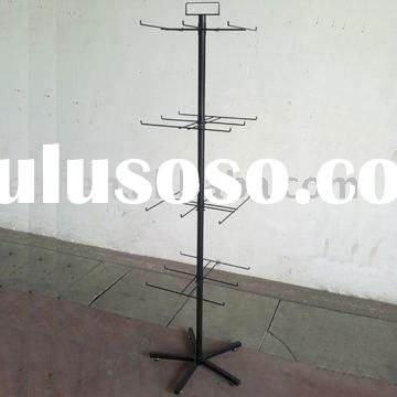 4 Tier Metal Spinning Socks Display Stand with Sign Holder
