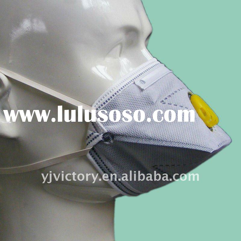 4-ply non-woven CE face mask respirator with vavle and activated carbon fabric