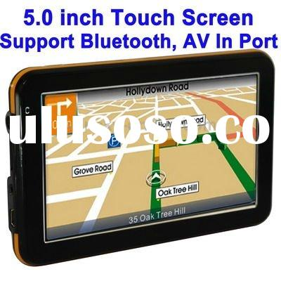 5.0 inch TFT Touch-screen Car GPS Navigator, Free 2GB TF Card and Map, Support Bluetooth, AV In Port