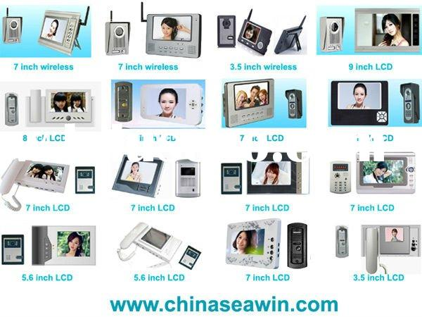 "5"" 7"" 8"" 9"" Video door phone, Video intercom, Wireless video door phone"