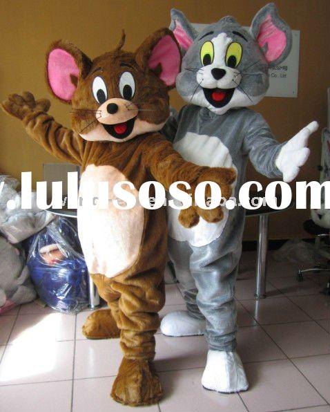5cm long plush tom and jerry mascot costumes