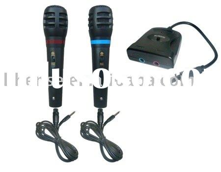 5in1 Dual Wired Microphone for (Wii/P3/P2/XBOX360/PC)