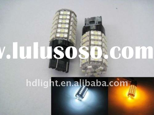 60 SMD Xenon White/Amber Yellow Dual Color Switchback,3157 3457 3057 Switchback LED Turn Signal Ligh
