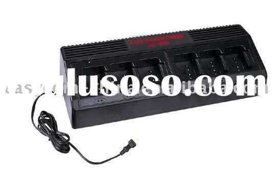 6-Unit Universal Charger EC-1000A for Motorola,Kenwood,Icom,Vertex,HYT battery charger