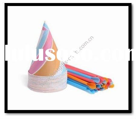 6oz disposable printed ice cream paper cone cup and straw