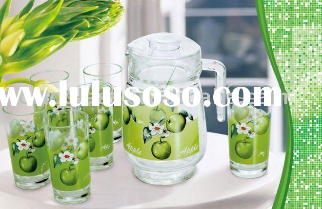 7PCS GLASS DRINKING SET, WATER JUG AND CUPS