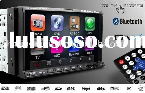 "7"" Double Din Car DVD player with TV/Radio/BT/touch screen/GPS"