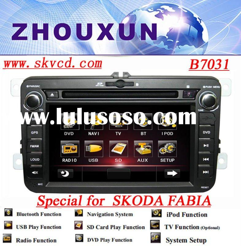 "7"" HD digital TFT car DVD GPS player, with TV, radio, bluetooth (7031 Skoda Fabia)"