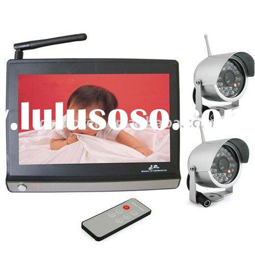 "7"" TFT LCD Baby Monitor with 2 PCS 24LED 2.4G Wireless Security Cmos Camera BMIRN722"