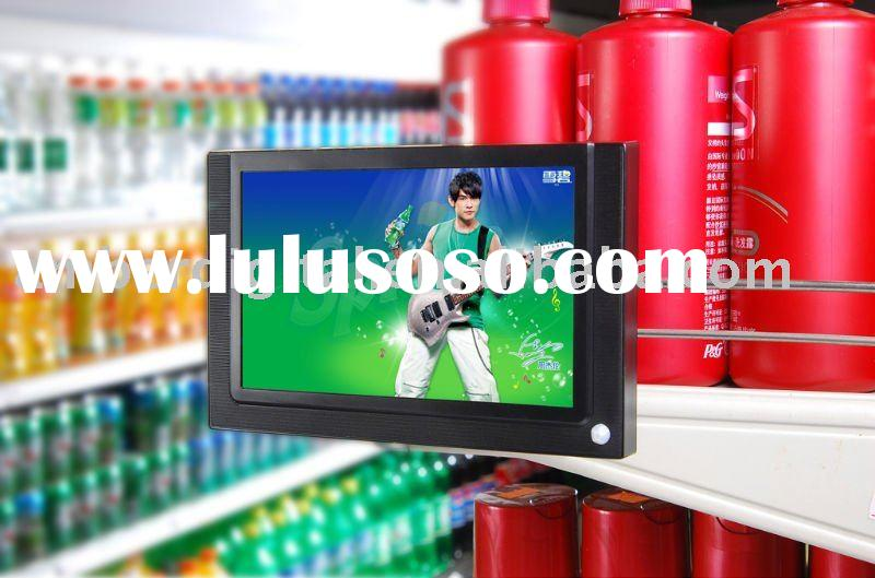 7 inch LCD Advertising screen for supermarket shelf use, Retail Store Video Players, LCD Media Playe