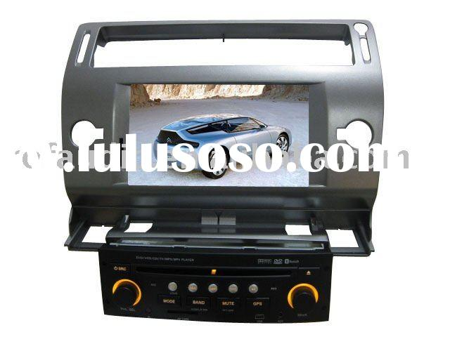 7inch double din car dvd gps navigation system for Citroen C4