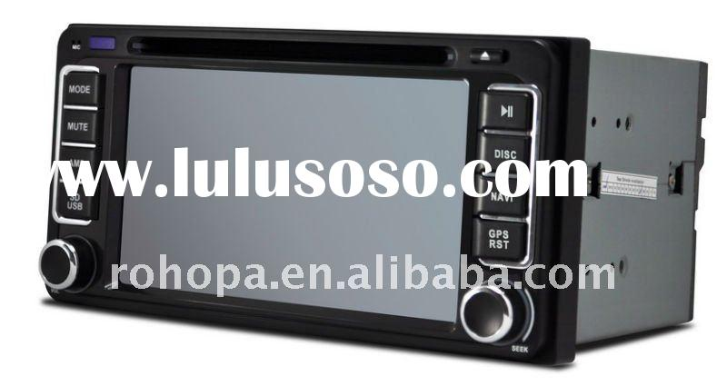 7inch double din car dvd toyota hilux gps navigation system with rds tv bluetooth touch panel