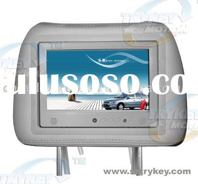 7inch taxi LCD TV, taxi LCD player with pillow, headrest LCD player