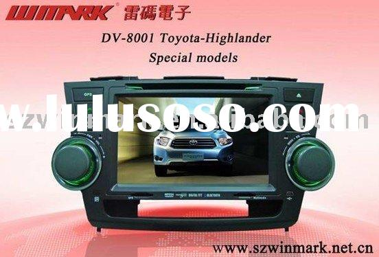 "8"" double din touch screen car dvd player with gps for toyota highlander"