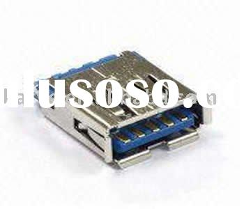 9-pin Short USB 3.0 Connector Plug/Jack to Mini/Micro USB 3.0 Adapter Cable Assembly in Solder Type