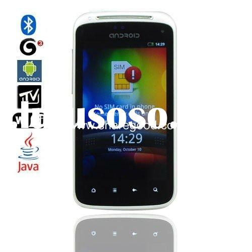 A3 Quad Band Dual SIM Dual Standby 4.0 Touch Screen Android 2.2 TV Bluetooth JAVA WIFI GPS 3G WCDMA
