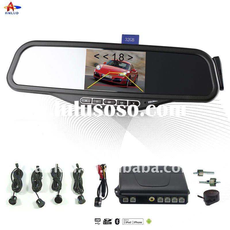 ALD100C-Bluetooth mirror 3.5 inch monitor Car Parking Sensor with Wireless security Camera