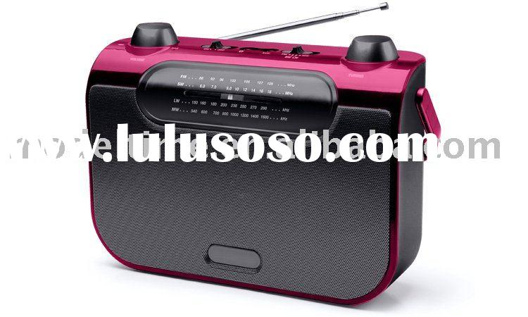 AM/FM Portable Radio with Line-in jack for Ipod or MP3 player