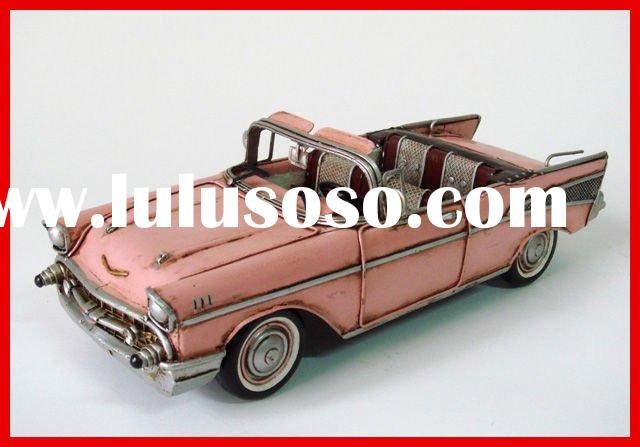 ANTIQUE CHEVROLET CAR MODEL(1957 PINK CHEVROLET BEL AIR NOMAD 1:18-SCALE)