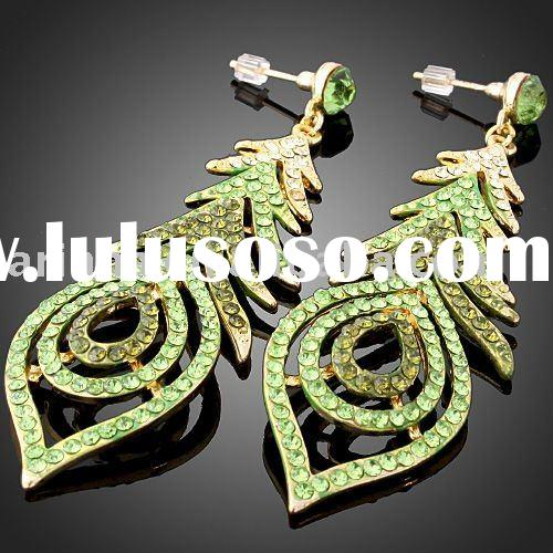 ARINNA Fashion jewelry Crystal pierced Earrings E0480