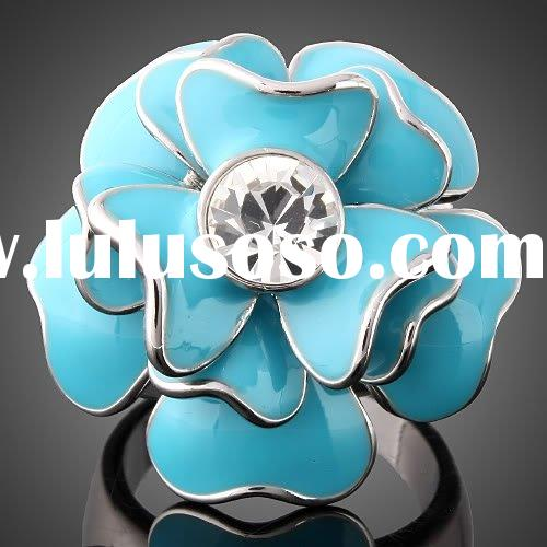 ARINNA Finger Ring rose flower gold plated Rings Fashion Rings Gold Rings J1514