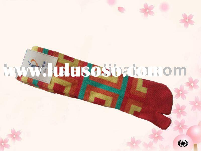 Acrylic women two toe socks