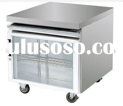 Air cooling glass door table / restaurant equipment