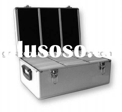 Aluminum 510 CD DVD Storage Case Box Holder Sleeves DJ