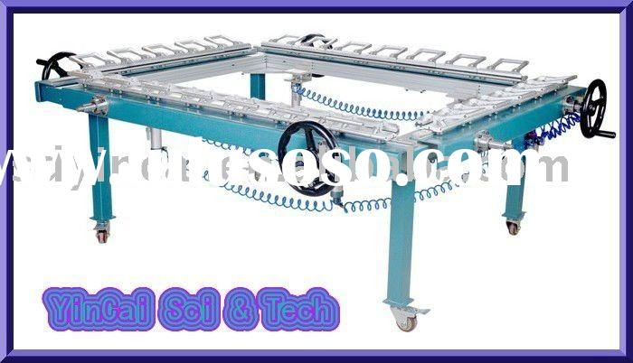 Aluminum rail guide pneumatic stretching machine