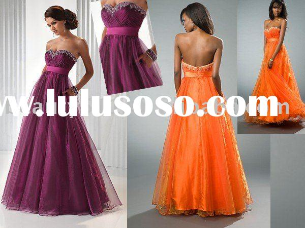 Arabic style 2010 fine evening dress, wedding gown, bridal dress factory made with optional colorEUA