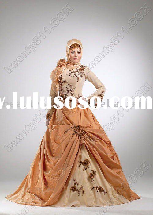 Arabic-style exquisite wedding dress, bridal dress,wedding gown, ql499