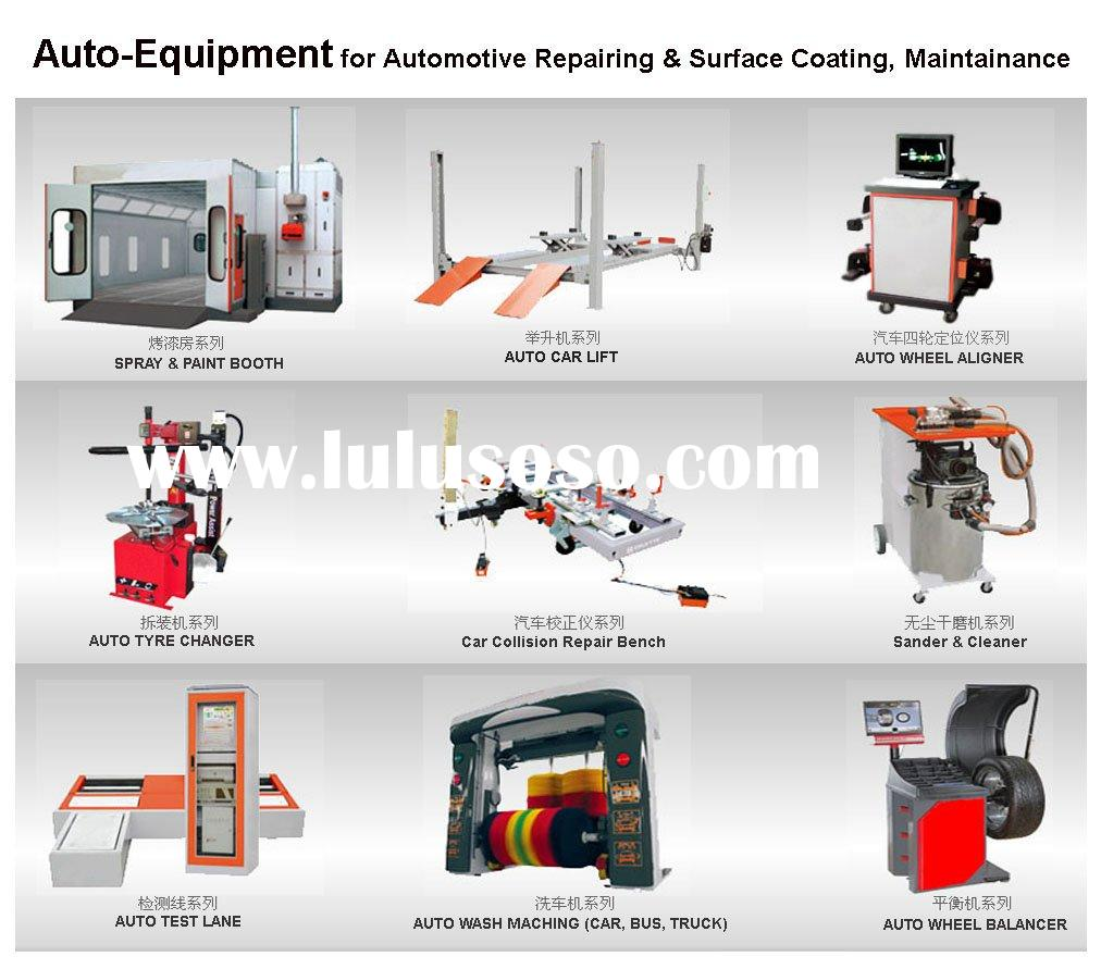 Auto Spray booth, Car lift, Tyre changer, Wheel balancer, Car wash machine....