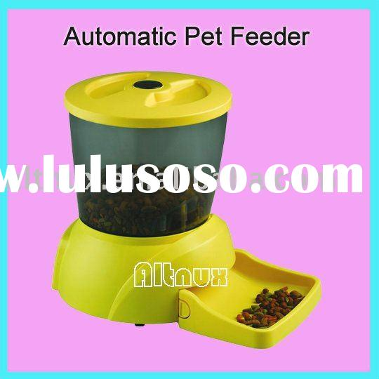Automatic Pet Feeder bowl feeding 4 times daily,alarm sounds SQ90