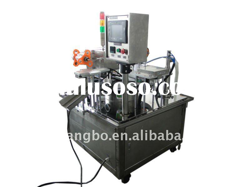 Automatic Rotary cup filling and sealing machine for juice,yogurt,sauce