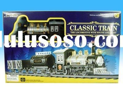 BO classic train railway toy / battery operated railway car set