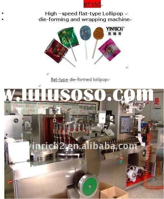 BT350 High speed flat-type Lollipop die-forming and wrapping machine